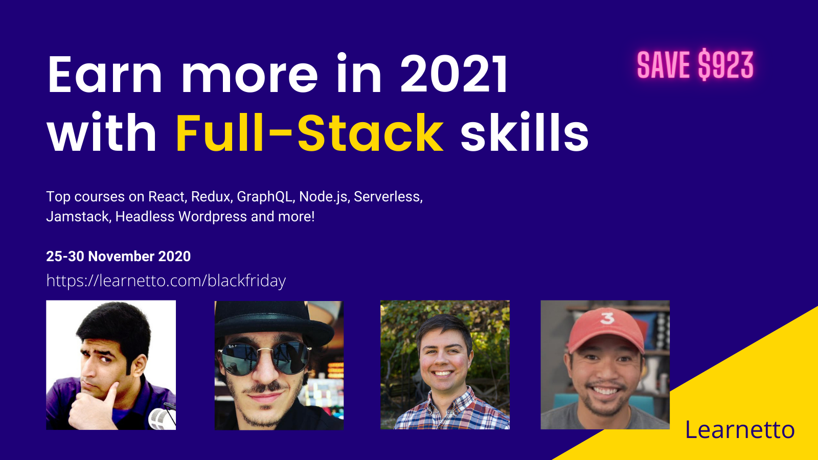 Learnetto Full-Stack JavaScript courses Black Friday Sale